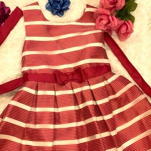 Pretty red and white dress for girls
